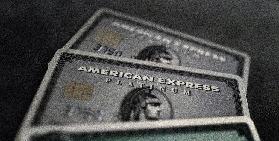 Credit cards of American Express are photographed in this illustration picture in this March 17, 2016, file photo. REUTERS/Kai Pfaffenbach/Illustration/Files  GLOBAL BUSINESS WEEK AHEAD PACKAGE - SEARCH 'BUSINESS WEEK AHEAD APRIL 18'  FOR ALL IMAGES - RTX2AE8X