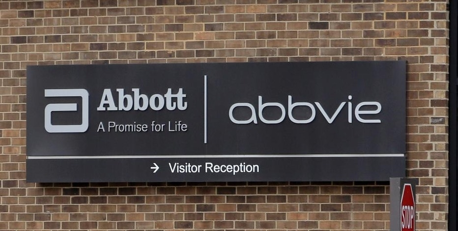 FILE - This Jan. 24, 2015, file photo, shows the exterior of Abbvie, in Lake Bluff, Ill. AbbVie Inc. reports quarterly financial results on Friday, July 24, 2015. (AP Photo/Nam Y. Huh)