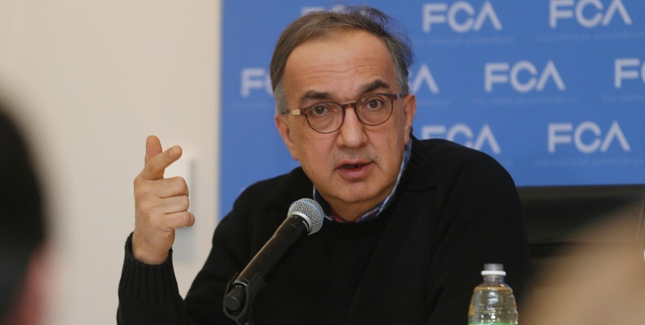 Sergio Marchionne, CEO of Fiat Chrysler, speaks at the North American International Auto Show in Detroit, Michigan January 11, 2016.