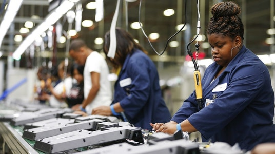 U.S. Manufacturing Expands at Slower Pace