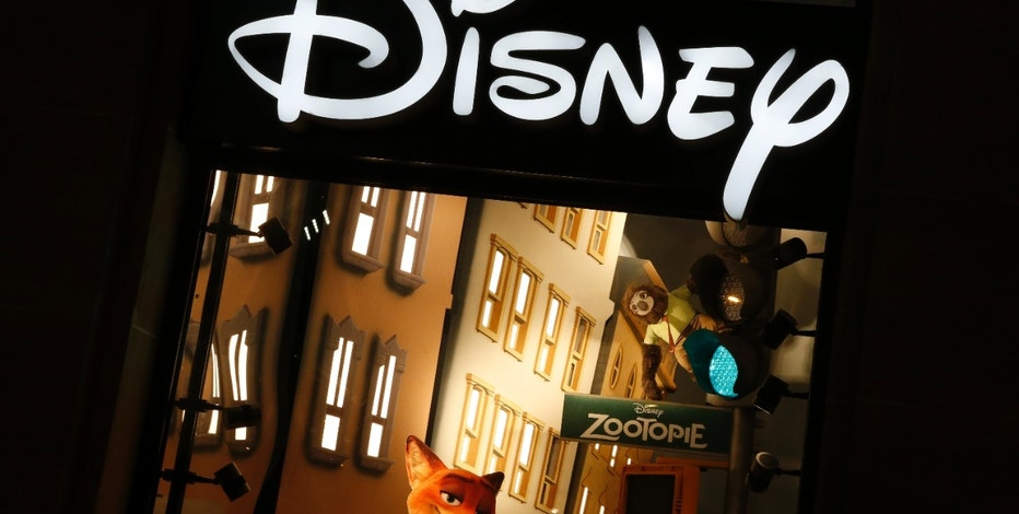 The logo of the Disney store on the Champs Elysee is seen in Paris, France, March 3, 2016.   REUTERS/Jacky Naegelen - RTS9AKE