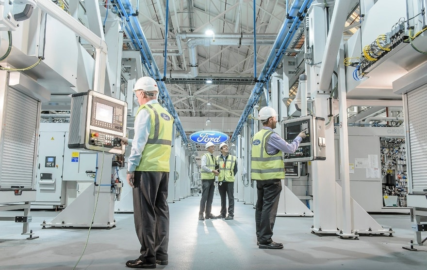 An inside look at Ford's Dagenham Engine Plant in a suburb of London, England.