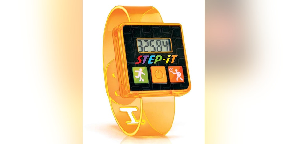 This image provided by the United States Consumer Product Safety Commission shows a Step-It Happy Meal wristband toy. McDonald's announced Tuesday, Aug. 23, 2016, that the company is recalling the fitness bands that it had put in Happy Meals because they might cause skin irritation or burns to children. (Sean Halliday/McDonald's/U.S. Consumer Product Safety Commission via AP)
