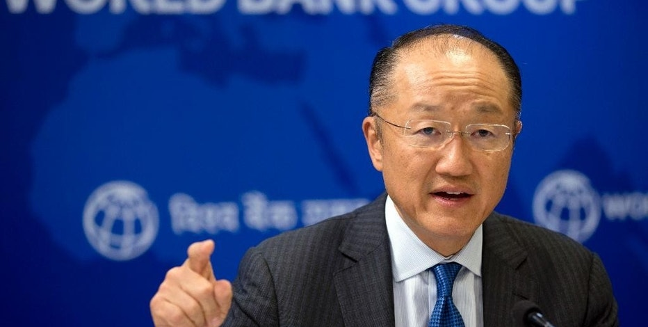 FILE - In this Thursday, June 30, 2016, file photo, World Bank President Jim Yong Kim speaks at a news conference in New Delhi, India. The Obama administration has nominated Kim for a second term leading the 189-nation international lending organization. The Treasury Department made the announcement in a statement Wednesday, Aug. 24. (AP Photo/Saurabh Das, File)
