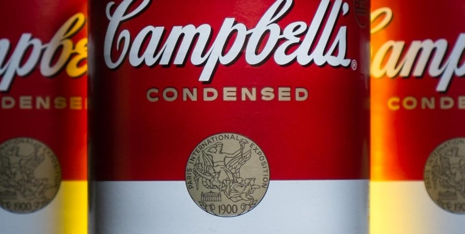 FILE - In this Jan. 8, 2014, file photo, cans of Campbell's soup are photographed in Washington. Campbell Soup reported quarterly earns  Thursday, Sept. 1, 2016. (AP Photo/J. David Ake, File)