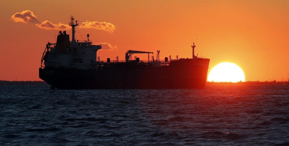 An oil tanker sits anchored off the Fos-Lavera oil hub near Marseille, France, October 15, 2015.