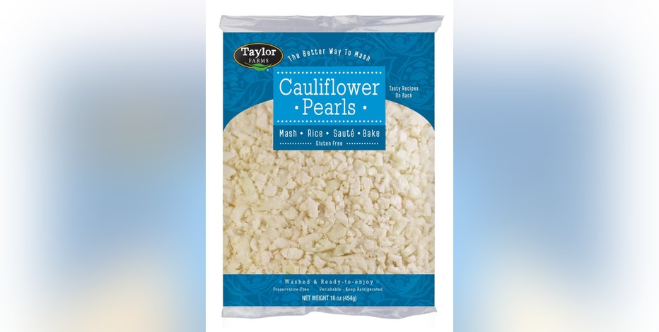 """This photo provided by Taylor Farms shows the company's """"Cauliflower Pearls."""" Producer Taylor Farms notes overall cauliflower sales in the U.S. rose 13 percent in 2015, and that people are using chopped cauliflower as a replacement in recipes for rice, mashed potatoes and pizza crusts. (Courtesy of Taylor Farms via AP)"""