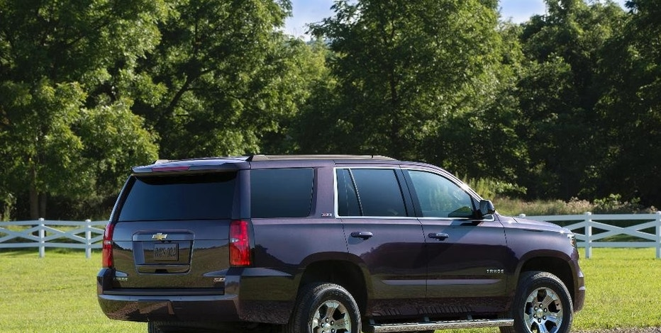 This photo provided by General Motors shows the 2016 Chevrolet Tahoe Z71. With new connectivity and safety features for 2016, the Chevrolet Tahoe SUV is a top-selling family vehicle that is anything but small. (Courtesy of General Motors via AP)
