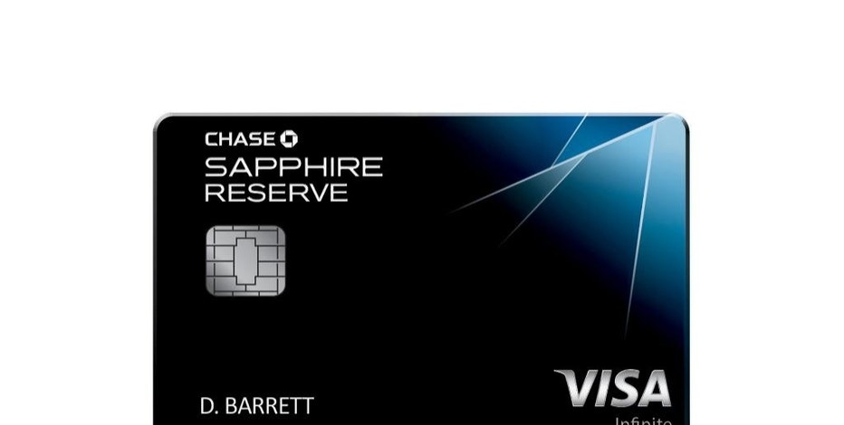 This photo provided by JPMorgan Chase shows a likeness of the bank's newest credit card, the Chase Sapphire Reserve Card. The card has become the hottest credit card on the market after being available only two weeks, to the point of running out of the metal cards used to make it. (JPMorgan Chase via AP)