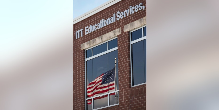 """ITT Educational Services headquarters in Carmel, Ind., is shown Tuesday, Sept. 6, 2016. The company, which operates vocational schools, announced """"with profound regret"""" in a statement Tuesday that it is ending academic operations at all of its more than 130 campuses across 38 states. (AP Photo/Michael Conroy)"""