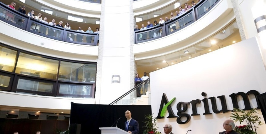 President and CEO Chuck Magro of Agrium addresses shareholders during the company's annual general meeting in Calgary, Alberta, May 6, 2015.  REUTERS/Todd Korol