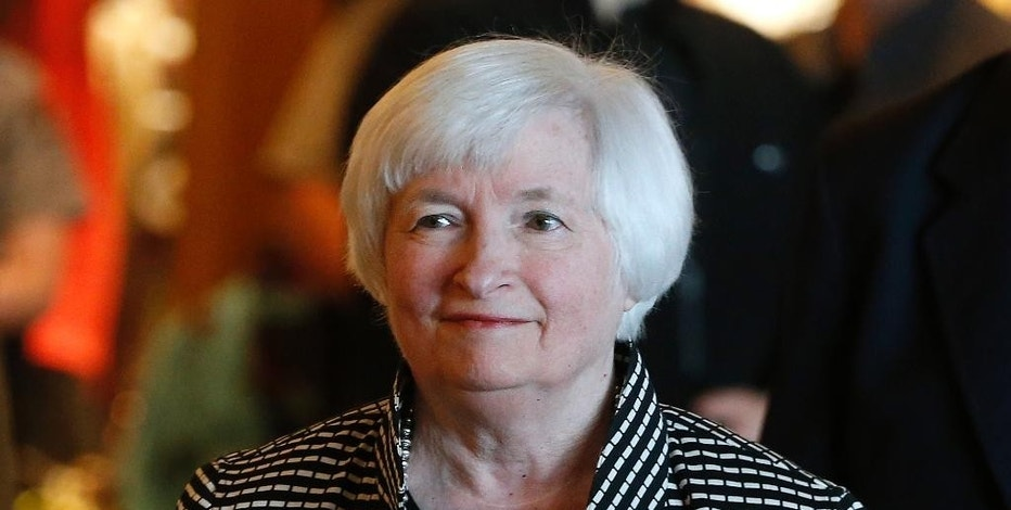 FILE - In this Thursday, Aug 25, 2016, file photo, Federal Reserve Chair Janet Yellen arrives for a reception on the opening night of the annual invitation-only conference of the world's central bankers, at Jackson Lake Lodge in Grand Teton National Park, north of Jackson Hole, Wyo. The Federal Reserve is scheduled to deliver an update on interest rates and its outlook on the economy Wednesday, Sept. 21. The remarks will follow a two-day meeting of the central bank's policymakers. (AP Photo/Brennan Linsley, File)