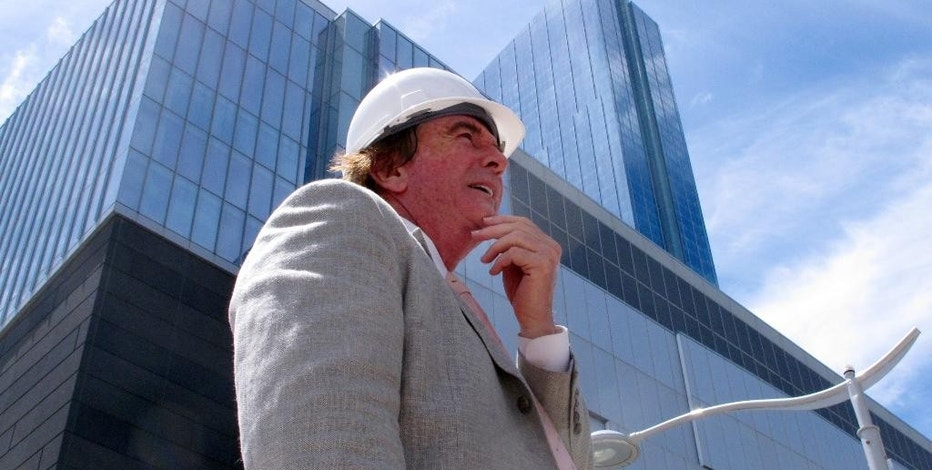 """FILE - In this June 14, 2016, file photo, Glenn Straub, the new owner of the former Revel casino in Atlantic City, N.J., walks outside the resort. On Tuesday Sept. 20, 2016, Straub was to go before a state redevelopment agency for one of several approvals he needs before he can reopen the property under the new name """"Ten"""" in the first quarter of 2017.   (AP Photo/Wayne Parry)"""