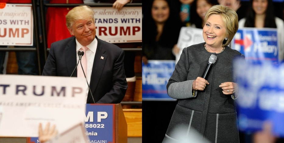 Donald Trump and Hillary Clinton FBN