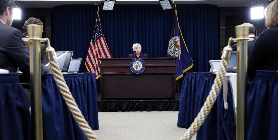 Federal Reserve Board Chair Janet Yellen listens to a question during a news conference about the Federal Reserve's monetary policy, Wednesday, Sept. 21, 2016, in Washington. (AP Photo/Alex Brandon)