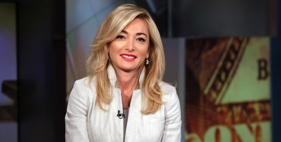 "FILE - In this June 23, 2015, file photo, Lands' End CEO Federica Marchionni appears on the ""Mornings with Maria Bartiromo"" program, on the Fox Business Network, in New York. The CEO of Lands' End, recruited from the New York fashion house Dolce & Gabbana in a bit of a culture clash, has stepped down after less than two years, announced Monday, Sept. 26, 2016. (AP Photo/Richard Drew, File)"