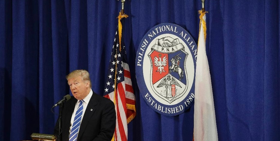 Republican presidential candidate Donald Trump speaks at the Polish National Alliance, Wednesday, Sept. 28, 2016, in Chicago. (AP Photo/John Locher)