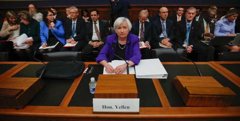 Federal Reserve Board Chair Janet Yellen takes her seat on Capitol Hill in Washington, Wednesday, Sept. 28, 2016, before the House Financial Services Committee hearing. Yellen is likely to face sharp questions from a House committee today over whether there was a failure in oversight by federal banking regulators involving Wells Fargo. The nation's second largest bank engaged in practices that allegedly allowed the bank to open millions of accounts without customers' permission. (AP Photo/Pablo Martinez Monsivais)