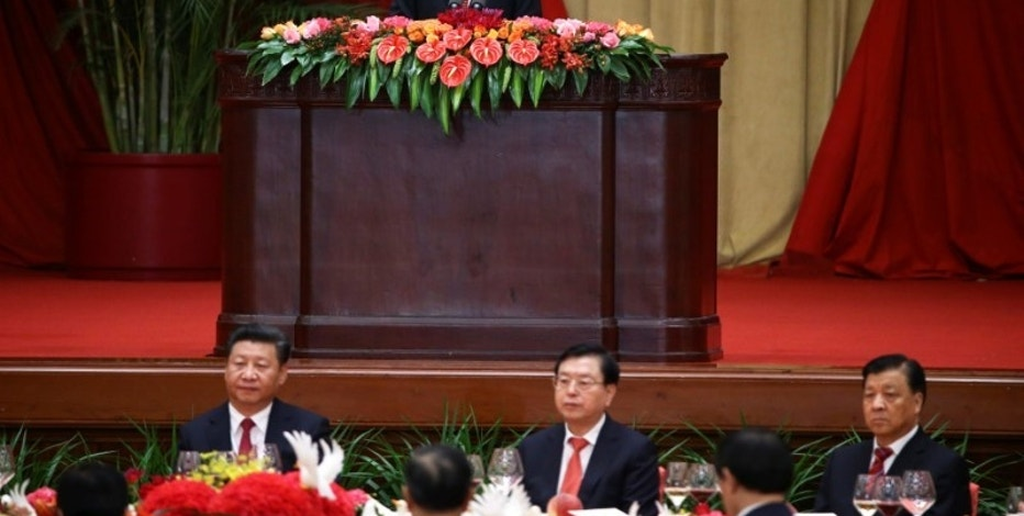 China's Premier Li Keqiang delivers the speech during the reception to celebrate National Day at the Great Hall of the People in Beijing, China September 30, 2016. REUTERS/Damir Sagolj