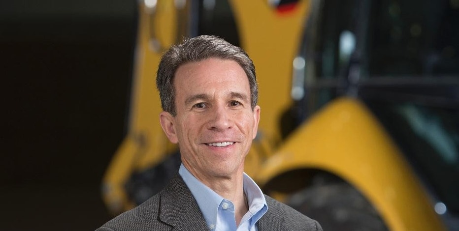 This undated photo provided by Caterpillar shows Jim Umpleby. On Monday, Oct. 17, 2016, Caterpillar announced that CEO and Chairman Doug Oberhelman will retire from the company in 2017 and will be replaced as CEO by Umpleby, an executive who has worked at the construction and mining equipment company for more than three decades. (Kevin May/Caterpillar via AP)