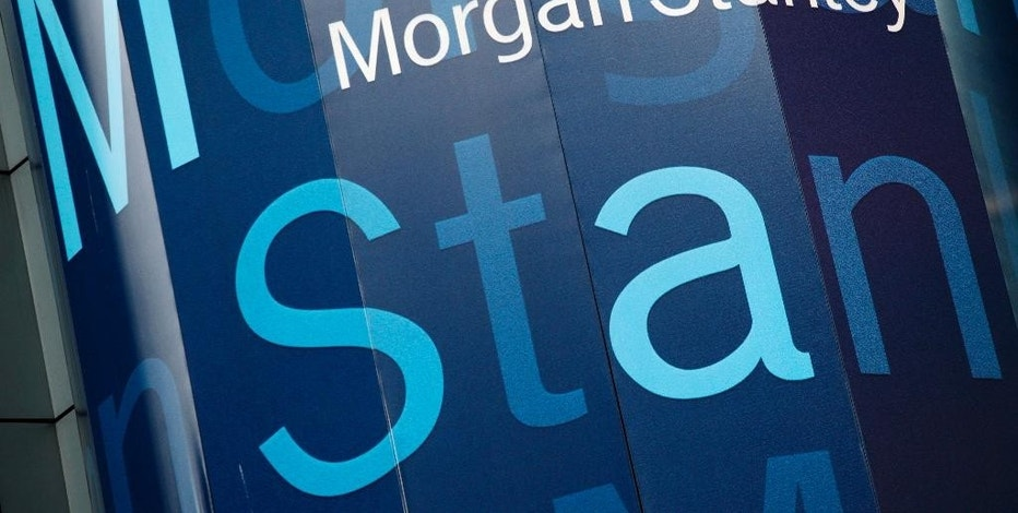 FILE - In this Tuesday, Oct. 18, 2011, file photo, the Morgan Stanley logo is displayed on its Times Square building, in New York. Morgan Stanley reports financial results Wednesday, Oct. 19, 2016. (AP Photo/Mark Lennihan, File)