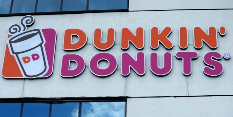 The logo of Dunkin' Donuts is on display in Tbilisi, Georgia, July 13, 2016. REUTERS/David Mdzinarishvili
