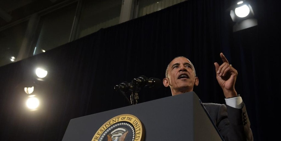President Barack Obama speaks about the Affordable Care Act, Thursday, Oct. 20, 2016, at Miami Dade College in Miami. Obama is in Miami to encourage people to sign up for health care coverage under the Affordable Care Act during an upcoming enrollment period. (AP Photo/Susan Walsh)