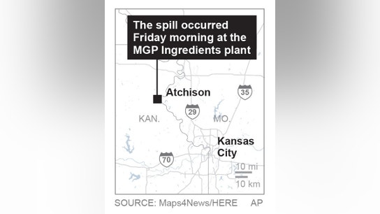 The Latest: 67 seek medical care after Kansas chemical spill