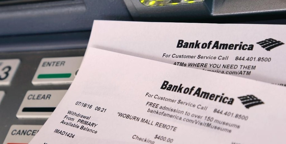 This Monday, July 18, 2016, photo shows printouts from a Bank of America ATM, in Woburn, Mass. Bank fees are bothersome, but they are often avoidable. ATM fees, overdraft fees and monthly account maintenance fees are the ones most commonly faced by consumers, according to experts. (AP Photo/Elise Amendola)