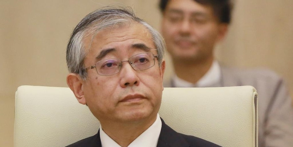 In this Tuesday, Nov. 1, 2016 photo, Shinichi Ueyama, special advisor for Tokyo Metropolitan Government on reform, listens during an expert panel at the city hall in Tokyo. The panel of academics and business consultants hand-picked by Tokyo Gov. Yuriko Koike said moving the rowing and canoeing venue for the 2020 Olympics to Naganuma would be the most cost-efficient solution. Panel chairman Ueyama said the Naganuma site is the only realistic out-of-town alternative to the Sea Forest venue, considering the time needed for additional construction and other preparations. (AP Photo/Eugene Hoshiko)