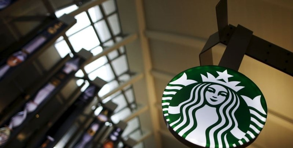 A Starbucks store is seen inside the Tom Bradley terminal at LAX airport in Los Angeles, California, United States on October 27, 2015.   REUTERS/Lucy Nicholson/File Photo