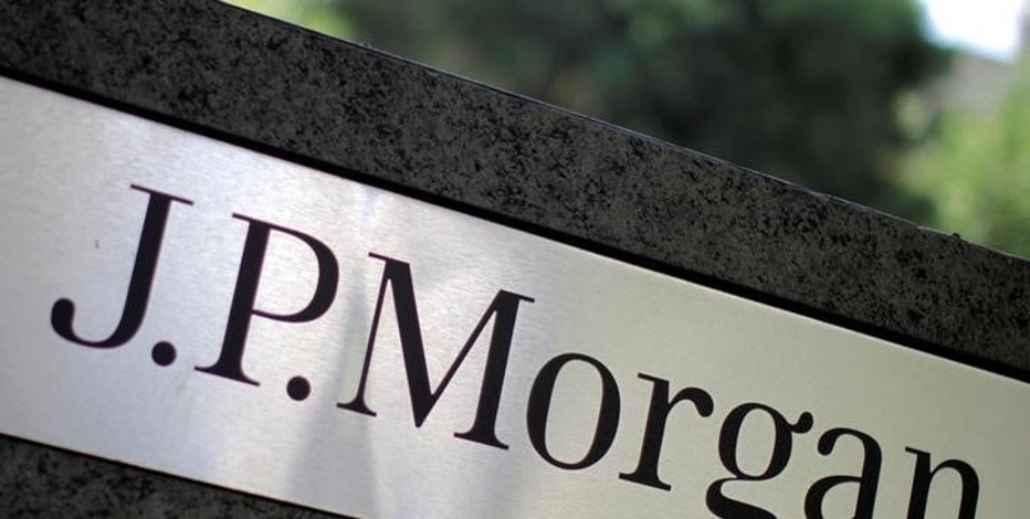 The logo of Dow Jones Industrial Average stock market index listed company JPMorgan Chase (JPM) is seen in Los Angeles, California, United States, in this October 12, 2010 file photo.   REUTERS/Lucy Nicholson/File Photo - RTX2E4B4