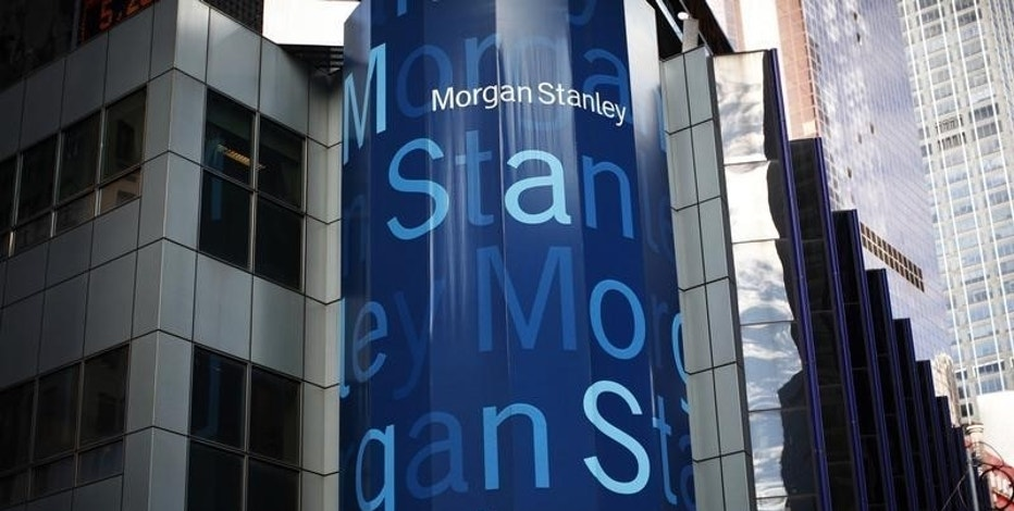 The corporate logo of financial firm Morgan Stanley is pictured on the company's world headquarters in the Manhattan borough of New York City, New York, U.S. January 20, 2015.   REUTERS/Mike Segar/File Photo