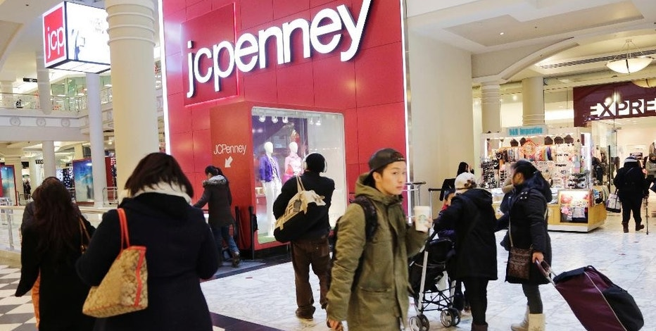 FILE - In this Feb. 19, 2015, file photo, shoppers visit a J.C. Penney store in New York. Reports from retailers, including department stores like Kohl's, Macy's and J.C. Penney, showed that shoppers had been starting to step up their spending in the months leading up to the election won by Republican Donald Trump. And the companies are generally optimistic about a good holiday season, pointing to higher wages for workers and leaner inventories. (AP Photo/Mark Lennihan, File)