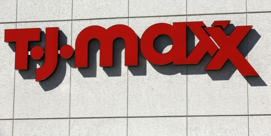 A view of the sign outside the TJ Maxx store in Westminster, Colorado, February 26, 2014. TJX Cos Inc, operator of the TJ Maxx stores, announced quarterly results on Wednesday. REUTERS/Rick Wilking