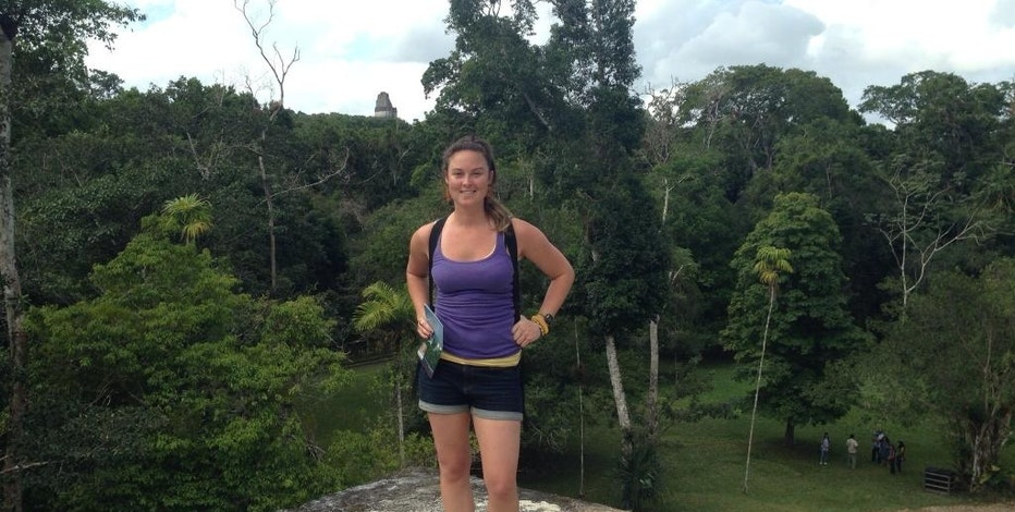 "This January 2014 photo released by Richard Jones shows Sarah Jones during a vacation in Belize. Jones, an assistant camera operator, was killed in February 2014 while shooting the Gregg Allman biopic ""Midnight Rider,"" in Georgia. Her death has prompted broad safety discussions within the film and television industry and led her parents to advocate for better safety practices during productions. (Rebecca Jones via AP)"