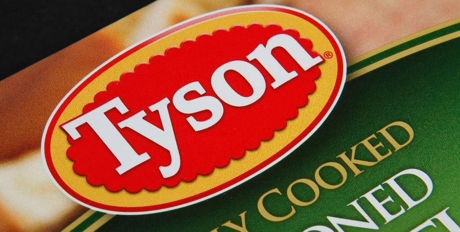 FILE - This Nov. 18, 2011, file photo, shows a Tyson food product, in Montpelier, Vt. On Monday, Nov. 21, 2016, Tyson Foods Inc. reported fiscal fourth-quarter earnings of $391 million. The results missed Wall Street expectations. (AP Photo/Toby Talbot, File)