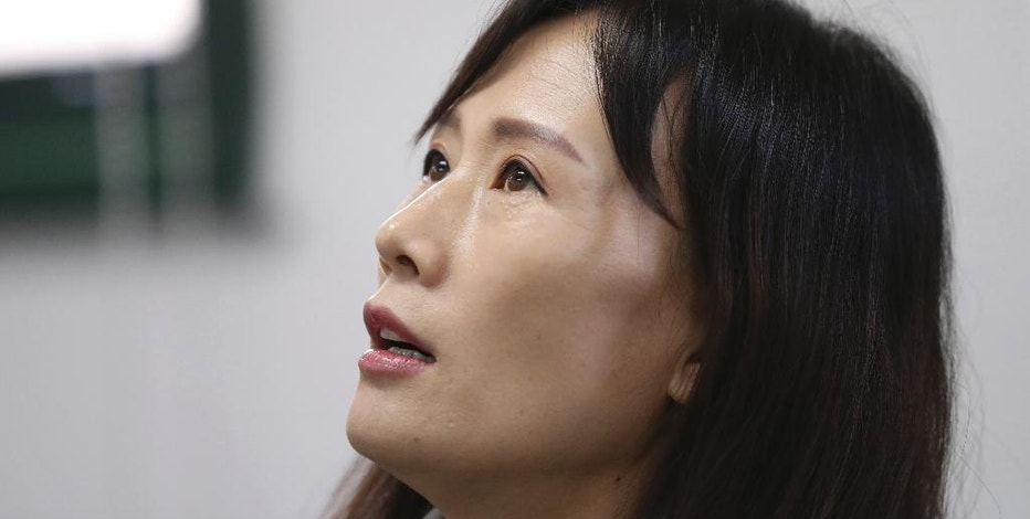 In this picture taken on Thursday, Oct. 13, 2016, a North Korean defector Lee So Yeon who said she had supplied goods to the market before she came to South Korea in 2008, speaks during an interview in Seoul, South Korea. Hundreds of markets have emerged in North Korea since its public rationing systems fell apart in the mid-1990s. The growth of markets poses a potential threat to North Korea's strict control of its people but it still allows Kim Jong Un's government focus on bolstering its nuclear arsenal while letting his people feed themselves. (AP Photo/Lee Jin-man)