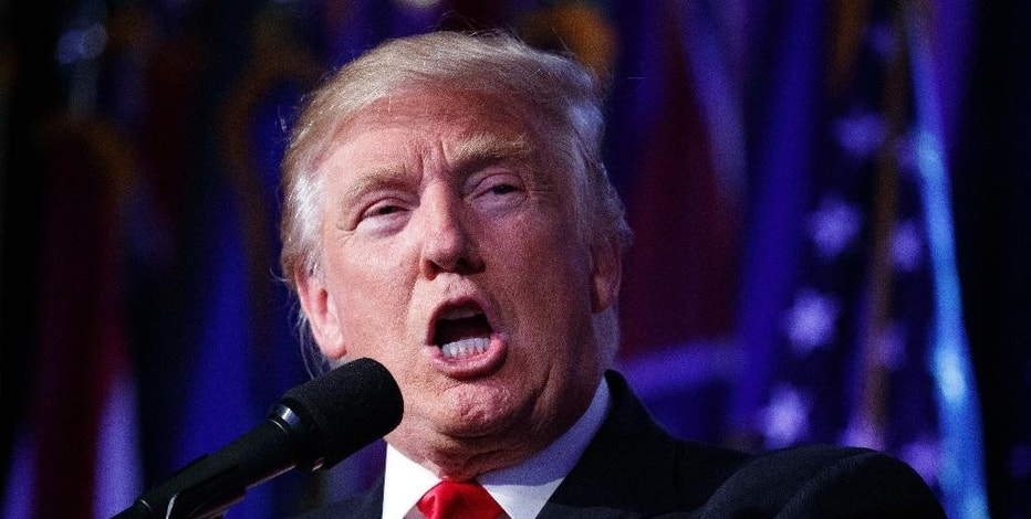 FILE - In this President-elect Donald Trump speaks during an election night rally, Wednesday, Nov. 9, 2016, in New York. Trump will be in a strong position to dismantle some of President Barack Obama's efforts to reduce planet-warming carbon emissions. But delivering on campaign pledges to abolish the Environmental Protection Agency and bring back long-gone coal mining jobs will likely prove more difficult for the new president. (AP Photo/ Evan Vucci, File)
