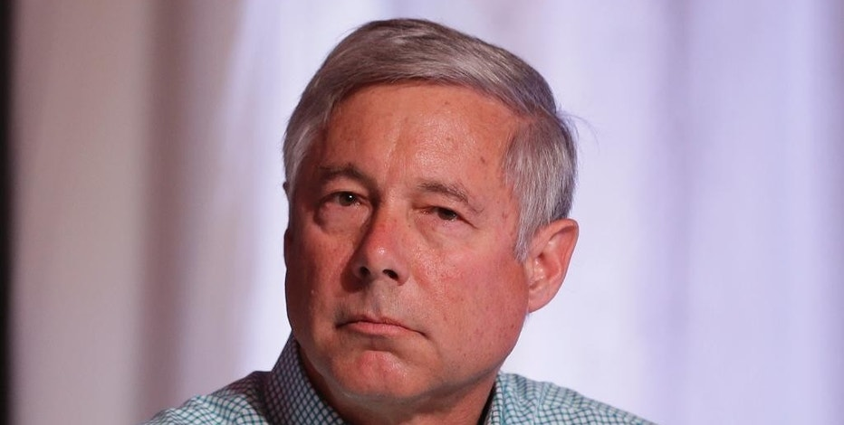 "FILE - In this Spet. 19, 2015, file photo Rep. Fred Upton, R-Mich., is seen during a congressional panel at the 2016 Mackinac Republican Leadership Conference in Mackinac Island, Mich. Republican leaders are ready to push through the House a compromise medical research bill that's prompted complaints from Democrats and consumer groups but seems all but certain to sail through Congress because it contains victories for both parties and the White House. ""We feel that we're on good footing,"" Upton, chairman of the House Energy and Commerce Committee, said about the bill's prospects in both the House and Senate. (AP Photo/Carlos Osorio, File)"