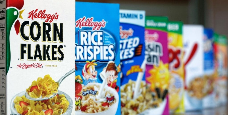 """FILE - This Feb. 1, 2012, file photo, shows Kellogg's cereal products, in Orlando, Fla. Conservative media outlet, Breitbart, is encouraging its readers to boycott Kellogg products after the cereal maker said it would no longer advertise on its site. The Kellogg Company cited """"company values"""" in explaining its decision Tuesday, Nov. 29, 2016. On Wednesday, Breitbart launched a #DumpKelloggs petition calling for a boycott of the company. (AP Photo/John Raoux, File)"""