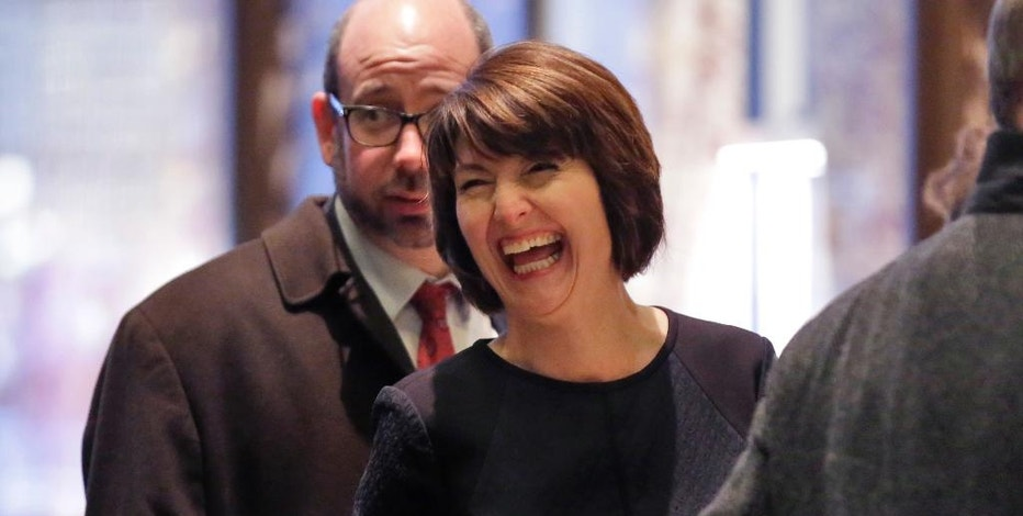 Rep. Cathy McMorris Rodgers, R-Wash., arrives in Trump Tower, in New York, Monday, Dec. 12, 2016. (AP Photo/Richard Drew)