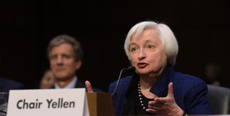 FILE - In this Thursday, Nov. 17, 2016, file photo, Federal Reserve Chair Janet Yellen testifies on Capitol Hill in Washington, before the Joint Economic Committee. At the end of their meeting, Wednesday, Dec. 14, 2016, many expect that the Fed will raise interest rates. (AP Photo/Susan Walsh, File)
