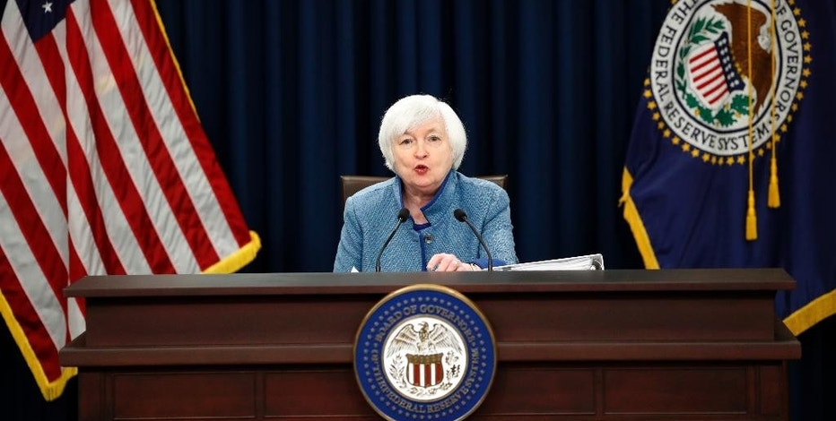 Federal Reserve Board Chair Janet Yellen speaks during a news conference about the Federal Reserve's monetary policy, Wednesday, Dec. 14, 2016, in Washington. The Federal Reserve is raising a key interest rate for the first time in a year, reflecting a resilient U.S. economy and expectations of higher inflation. The move will mean modestly higher rates on some loans. (AP Photo/Alex Brandon)