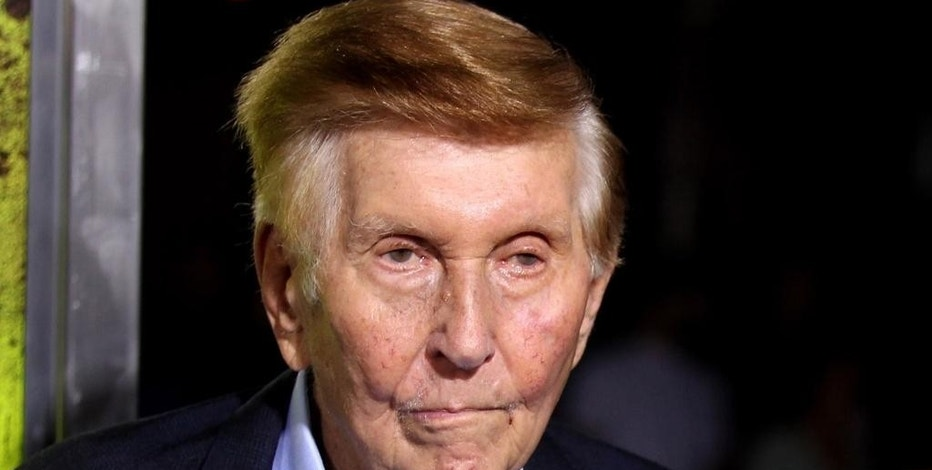 "FILE - In this Oct. 1, 2012, file photo, Sumner Redstone attends the premiere of ""Seven Psychopaths"" in Los Angeles. On Friday, Dec. 16, 2016, Viacom said Redstone is leaving the company's board in February 2017. Redstone will keep his chairman emeritus title and can still attend board meetings, but won't have a vote, according to Viacom. (Photo by Matt Sayles/Invision/AP, File)"