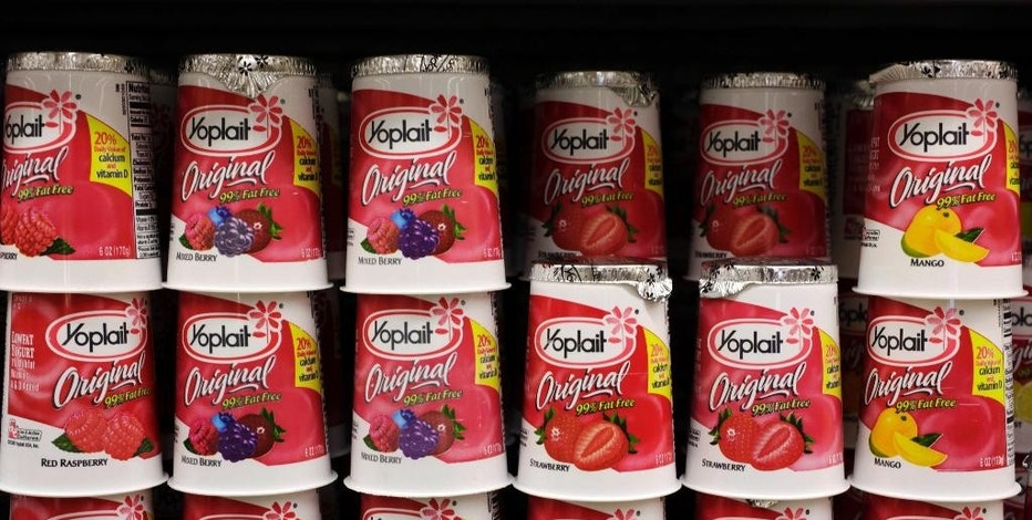 FILE - This Wednesday, July 1, 2009, file photo shows General Mills' Yoplait yogurt on display at a store in Palo Alto, Calif. General Mills, Inc. reports earnings Tuesday, Dec. 20, 2016. (AP Photo/Paul Sakuma, File)
