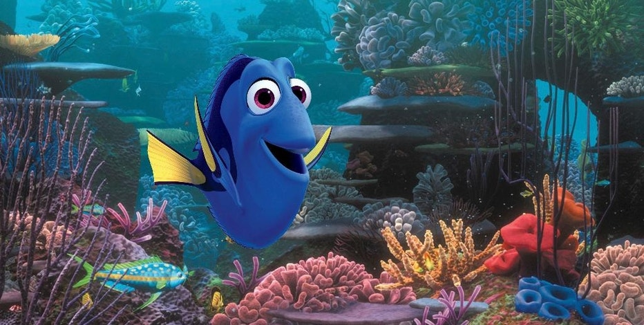 "FILE - This undated image released by Disney shows the character Dory, voiced by Ellen DeGeneres, in a scene from the animated movie ""Finding Dory."" This movie about a forgetful fish, ""Captain America: Civil War,"" and ""Rogue One: A Star Wars Story,"" led the North American box office in 2016, which, with an estimated $11.2 billion in earnings to date, has become the highest grossing year of all time _ surpassing last year's $11.1 billion record. (Pixar/Disney via AP, File)"