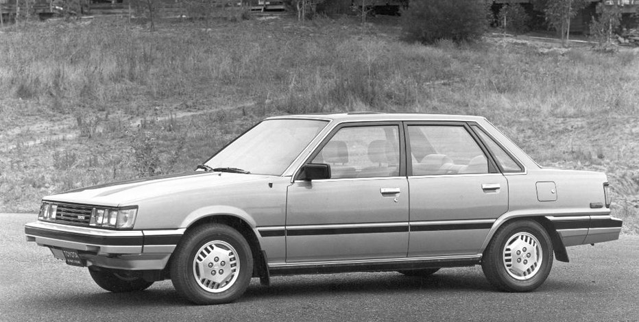 This undated image provided by Toyota shows the 1983 Toyota Camry. Facing stiff competition from the Honda Accord, Toyota replaced its aging Corona sedan with the new Camry in 1983. (Toyota via AP)