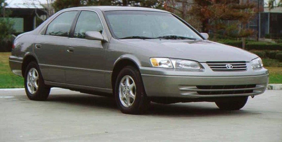 This undated photo provided by Toyota shows the 1997 Toyota Camry. This new Camry had a sportier look, and beat the Accord and Taurus to become the best-selling sedan in the U.S. in 1997. (Toyota via AP)