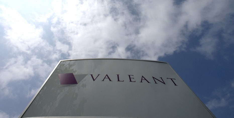The company logo of Valeant Pharmaceuticals International Inc is seen at its headquarters in Laval, Quebec May 19, 2015.